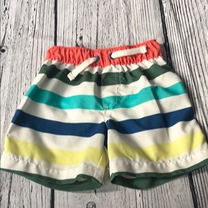 *6 for $30* Carter's striped swim trunks 18m
